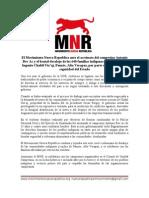 Comunicado del Movimiento Nueva República ante los desalojos en Alta Verapaz
