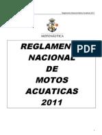 REGLAMENTO MOTOS DE AGUA 2011