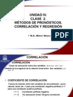 UNIDAD IV.  Clase  2 CORRELACION Y REGRESION