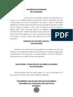 procedimiento para un documento extranjero