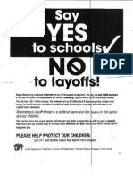Union Leaflet for Parents