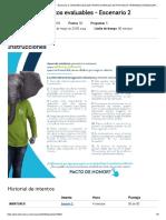 Puntos Evaluables analisis en procesos organizacionales