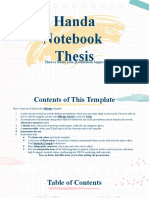 Handa Notebook Thesis _ by Slidesgo