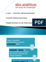 Tipos de estudos epidemiológicos analíticos_Mestrado 2016