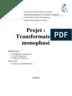 transformateur monophasé