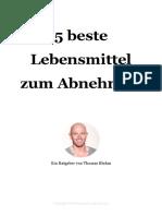 5 BESTE LEBENSMITTEL ZUM ABNEHMEN - THOMAS BLUHM