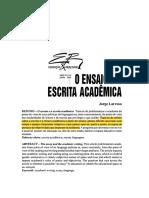 Larrosa O Ensaio e a Escrita Acadêmica