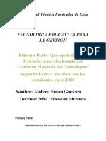 Analisis de la lectura Alicia en el país de las tecnologías