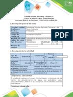 Guía de Actividades y Rúbrica de Evaluación - Primera Etapa - Fuentes de Abastecimiento de Agua