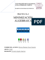 Práctica No. 2 Minimización Algebraica