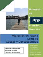 Migración en Puerto Lempira