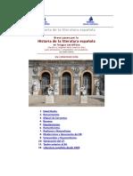Breve historia de la literatura española para Secundaria