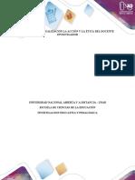 Contextualización La Acción y La Ética Del Docente Investigador