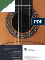 Librillo del disco Obras para cuarteto de guitarras