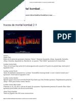 trucos de mortal kombat 2 !! _ trucos de mortal kombat