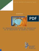 Rapport - La Responsabilite Sociale Des Entreprises Et La Securite Et La Sante Au Travail