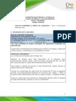 Guia de actividades y Rúbrica de evaluación - Tarea 6 - Evaluación nacional final