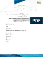 Calcilo doferencial - Ejercicios – Tarea 3