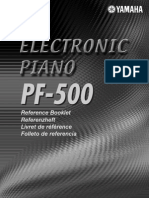 Yamaha PF500 Reference Manual