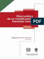 Obra jurídica de un Constituyente Fernando Lizardi, tomo I