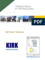 KIRK Sep-Calc Software