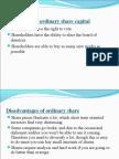 Advantages of ordinary share capital