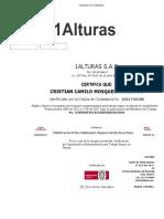 CURSO DE ALTURAS AVANZADO.
