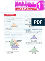 Propiedades Fundamentales de Los Triangulos Para Primer Grado de Secundaria