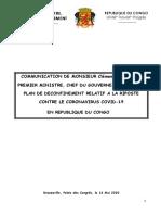 COMMUNICATION DU PREMIER MINISTRE RELATIVE AU DECONFINEMENT - 16 MAI 2020