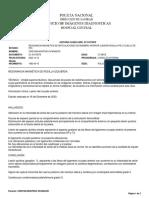 RESONANCIA MAGNETICA DE ARTICULACIONES DE MIEMBRO INFERIOR (CADERA RODILLA  PIE O CUELLO DE PIE),  (1)