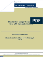 Should New Merger Guidelines Give UPP Market Definition?