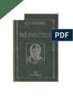 Pré-Socráticos Colecao Os Pensadores Vol 01