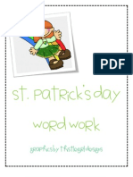 st patrick's day word work
