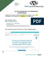 Instalacion de Wordpress Con Subdominio (1)