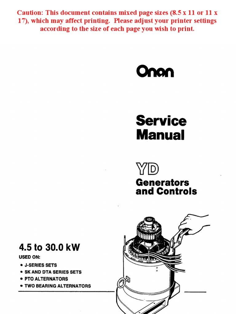 onan service manual yd generators and controls 900 0184 electric rh es scribd com Heavy Duty Belt Heavy Duty Bumpers