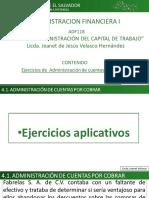 Ejericicios U3 Adom Cuentas por Cobrar Lic. Jeanet Velasco
