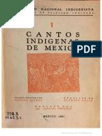 Concha Michel, Cantos indígenas de México