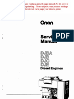 Onan Service Manual DJBA DJB DJC DJE Diesel Engines 967-0751