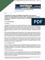 Constituição de Holding - Adolpho Bergamini