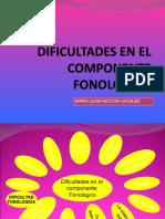 Presentación componente fonologico
