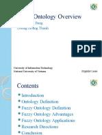 Fuzzy Ontology Overview IT@EDU 2010