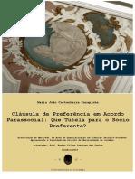 Clausula de Preferencia Em Acordo Parassocial