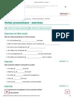Verbes pronominaux – exercices
