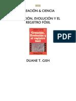 Creacion, Evolucion y Registro Fosil