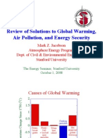 Review of Solutions to Global Warming Air Pollution and Energy Security