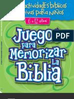 Juegos para Memorizar la Biblia - Editorial Dinámica