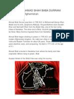 The Great Ahmad Shah Baba Durrani