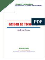 GESTION DE TRESORERIE note de cours 13 14