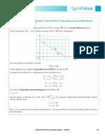 Cqfd4 Géométrie Analytique