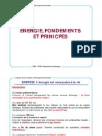 Chap I   Energies Fondements et Principes